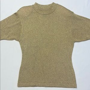 Sparkly Gold Top NWOT